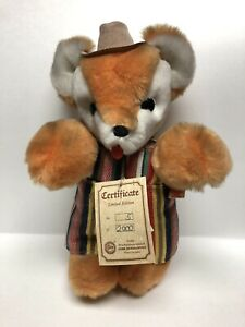 Vintage Limited Edition Hermann Teddy Original 5/2000 Orange White Bear