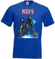 KISS Creatures of the Night vintage poster T shirt Royal Blue all sizes S-5XL .