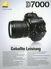 Prospekt Nikon D7000 9 2010 Kameraprospekt Katalog Kamera Spiegelreflexkamera