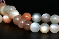 6MM Natural Mutilcolor Moonstone Gemstone Beads Grade AAA Round Loose Beads 4
