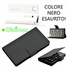 CUSTODIA COVER STAND A LIBRO PER SAMSUNG i9000 G959 Galaxy S i9001 PLUS BIANCO