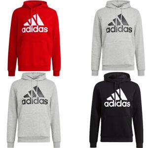 Adidas Mens Fleece Hoodies Essentials Cotton Big Logo Hoodie Hoody Sweatshirt