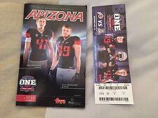 2015 Arizona Football College Gameday Program Arizona-Utah
