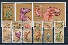 Gambia 1403/14 Block 162/64 postfrisch / Dinosaurier .......................1/61