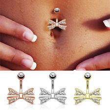 Various Fashion Body Piercing Jewelry Crystal Dangle Button Belly Navel Ring
