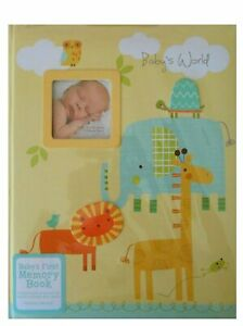 """C.R. Gibson Stepping Stones """"Baby's World"""" Baby's First Memory Book - Animals"""