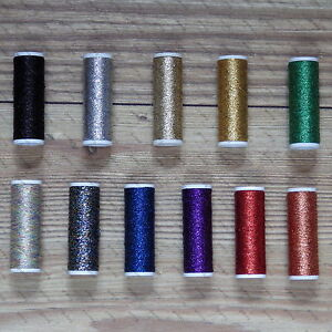 METALLIC THREAD 60m, 11 COLOURS TO CHOOSE FROM