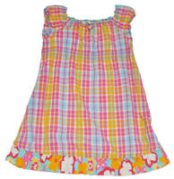 Girls Hanna Andersson Multicolored Plaid Tunic Play Dress Size 110 4-6 years