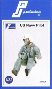 PJ Productions 1/32 US Navy Pilot seated # 321106*