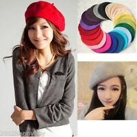 Autumn Wool Warm Girls Women French Classic Beret Beanie Slouch Hat Cap Tam