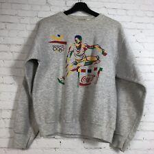 Vintage 90's Coca Cola Barcelona Olympics Crewneck Sweater Sweatshirt Size M