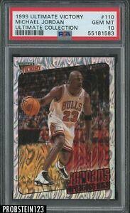 1999-00 Ultimate Victory #110 Michael Jordan Bulls HOF 11/100 PSA 10 POP 1