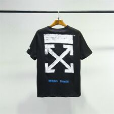 OFF White 19SS Mens Women Basic T-shirt Distressed painted arrow Tee OW40