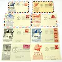 8 *AIRMAIL FIRST DAY COVERS* Stamps Postal Cards & Coils 5-6-7-8 Cents 1949-1965