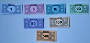 Monopoly Board Game Replacement Pieces Paper Money Classic  210 pcs.