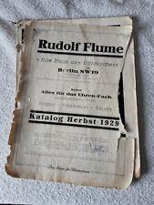 Uhrmacher Rudolf Flume Werk-sucher Wecker 1945 Große Kleine Weckerwerke Etuis 8-tag Uhren StraßEnpreis Alte Berufe