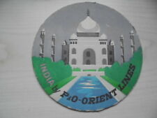 alter BD Bierdeckel INDIA by P&O-Orient Lines / SINGAPORE by P&O-Orient Lines