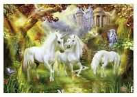 Fantasy Unicorn - Stunning Magical Landscape Art Large Poster / Canvas Pictures