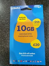 100 LEBARA SIM CARDS BRAND NEW ALL IN THEIR PACKAGING