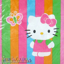 HELLO KITTY Rainbow Stripes LARGE NAPKINS (16) ~ Birthday Party Supplies Dinner
