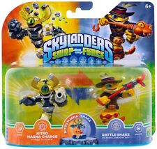 SKYLANDERS SWAP FORCE EXCLUSIVE NITRO MAGNA CHARGE & RATTLE SHAKE SUPERCHARGERS