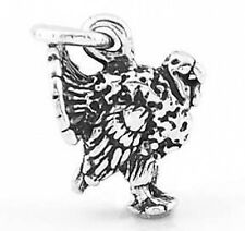 STERLING SILVER 3D WILD TURKEY CHARM PENDANT
