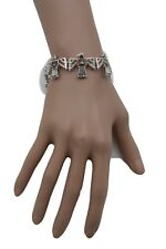 Women Silver Metal Native American Eagle Bird Charms Western Fashion Bracelet