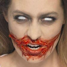 Adulto Zombie Látex & Kit De Maquillaje Sangre Falsa Piel Muerto Halloween FX Sangriento Nuevo