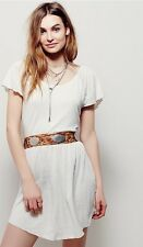 NWT Free People Ana Swing Dress Wheat Ivory XS Cover Up Beach Casual Open Back