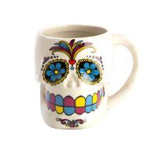 Candy Skull Mug White