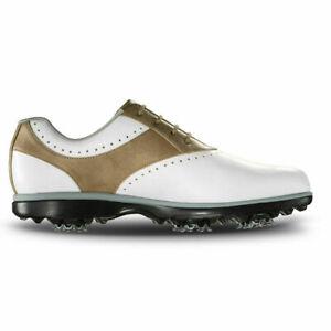 NEW! FootJoy [6.5] Medium eMerge Women's Golf Shoes, 93914 White/Taupe