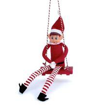 Elf On the Shelf Swing Seat Festive Novelty Holiday Xmas Christmas Decoration