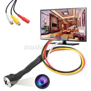 800TVL Mini CCTV Cam Hidden Micro HD Security Camera Small Screw Home 3.7mm US