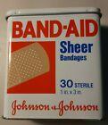 Band Aid Tin, Vintage Johnson and Johnson W/Band Aids