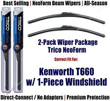Wipers 2pk Neoform Super-Premium fit 2008+ Kenworth T660 w/1-Piece Glass 16180x2