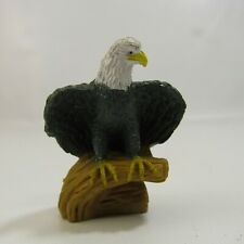 "Bald Eagle PVC Figure 2.25"" Rubber Figurine Toy"