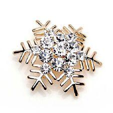 Large Silver Snowflake Brooch Pin Diamante Rhinestone Crystal Broach Xmas Gift 1