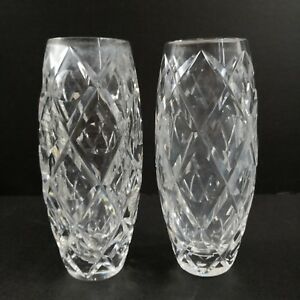 Set of 2 Crystal Glass Vases - Selling Low