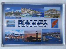RHODES - JUMBO FRIDGE MAGNET - Old Town, Collosus, Beaches