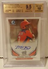 MICHAEL TAYLOR Rookie AUTO BGS Graded 9.5 2014 Bowman Chrome Autograph Nationals