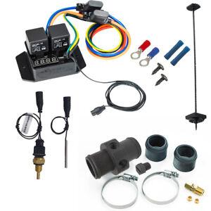 """Digital Fan Switch With 1/4"""" NPT Sensor & Inline Adapter Kit (Part 0445 + 0409)"""