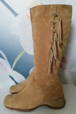 George Beige Suede Boots Size UK 8 EU 41 Made in Italy 🇮🇹