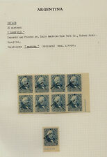 Argentina  #36 specimen overprints 9 stamps unused no gum