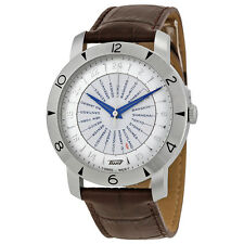 Tissot Heritage Navigator Silver Dial Brown Leather Mens Watch T0786411603700
