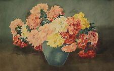 Marguerite CHALIBERT(épouse MASCART) 1895-1983 Bouquet de fleurs Vienne flowers
