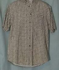 Fieldmaster Short Sleeve Shirt Size Medium Button Up Textured 100% Cotton Pocket