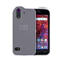 caseroxx TPU-Case for Cat S61 in white-clear + screen Protector