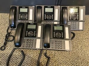 LOT of 5 Samsung SMT-i5220 IP Multi-line Business Phone With New Handset Cord
