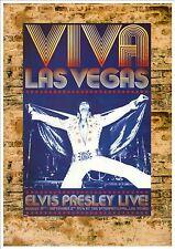 Elvis presley reproduction concert poster, plaque métal concert poster vintage