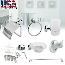 6 Piece Bathroom Hardware Accessories Set with Towel Bar/Soap Dish/Paper Holder